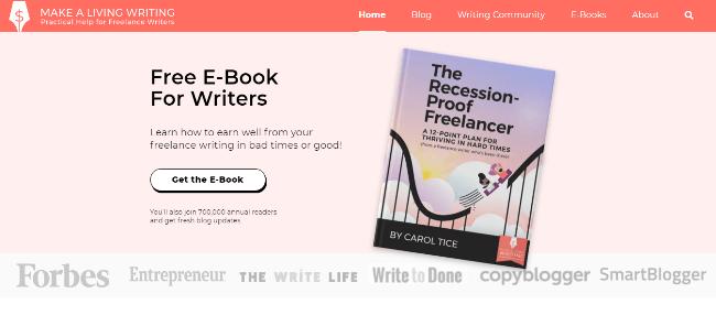 Makealivingwriting.com